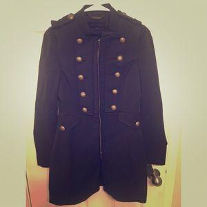 Steve Madden Black Military Style Jacket